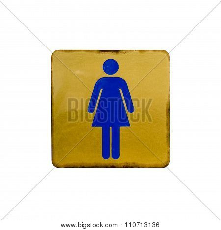 Toilet Sign Isolated On White
