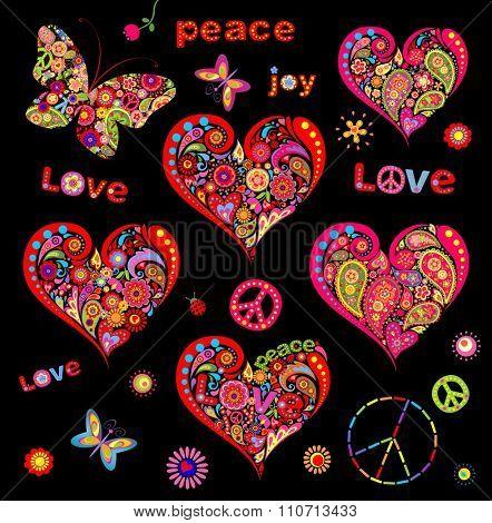 Hippie hearts