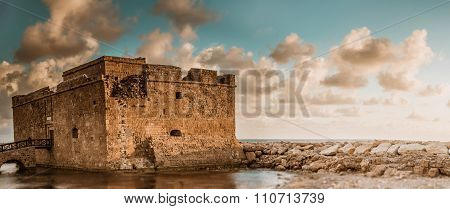 Paphos Fort. Panoramic View. Cyprus
