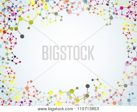 Colourful of molecular on isolated background
