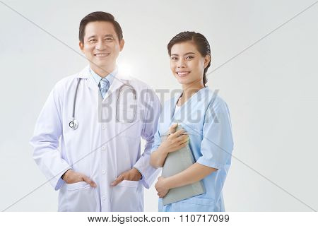 Doctor and intern