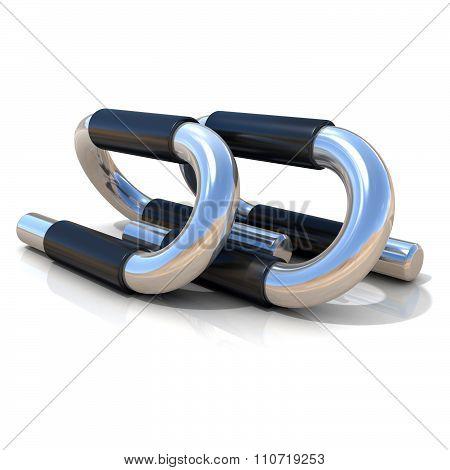 Steel push-up bars