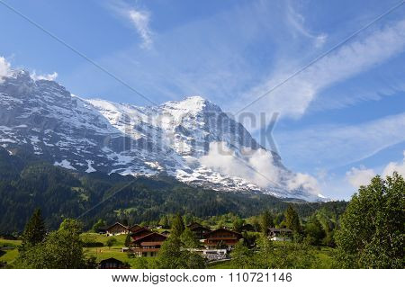 landscape of Jungfrau mountain in Switzerland