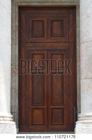 door of Saint Pierre Cathedral in Geneva switzerland