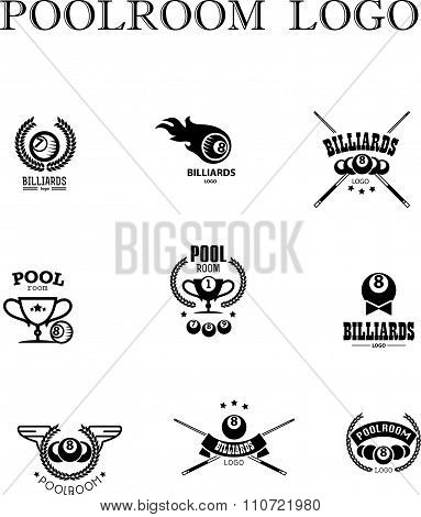 Vector collection of billiard logo.