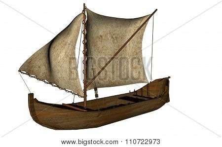 Small sailing boat - 3D render