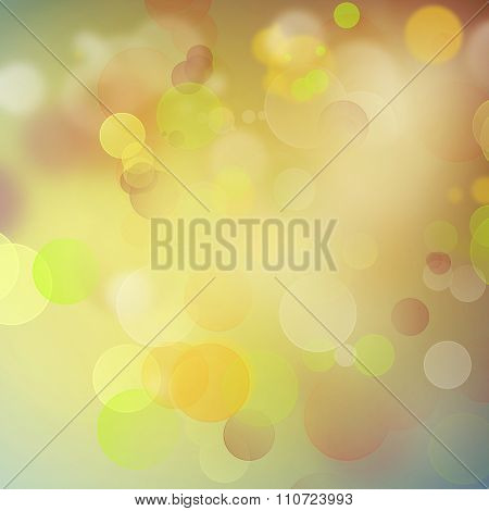 Yellow, green and brown abstract background