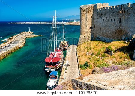Harbor View From Kyrenia Castle Walls. Cyprus