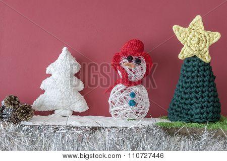 Xmas Decorations Crafts Fireplace  Snowmen Tree
