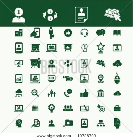 recruitment, headhunter, Job  icons, signs vector concept set for infographics, mobile, website, application