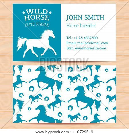Business Cards With Horses
