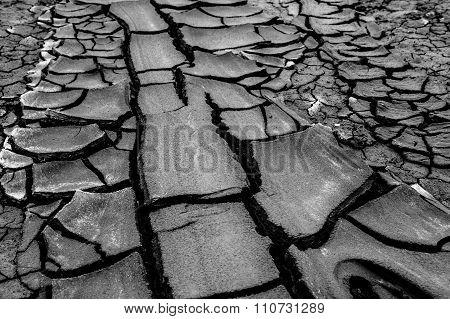 Mud Volcano at gobustan in Azerbaijan