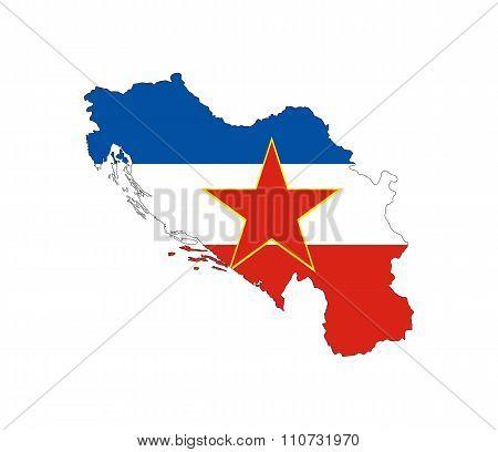 Yugoslavia Flag Map
