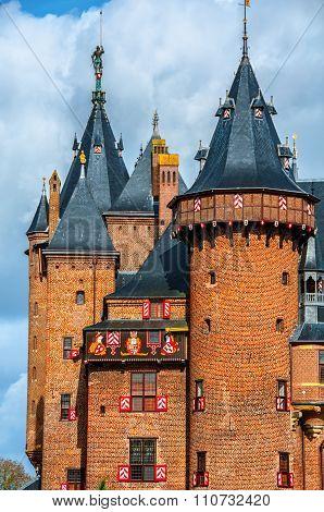 Castle De Haar in Utrecht, Netherlands