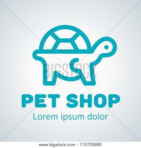 Ready For Use Logotype For Turtle Or Pet Shop