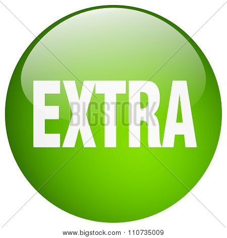 Extra Green Round Gel Isolated Push Button
