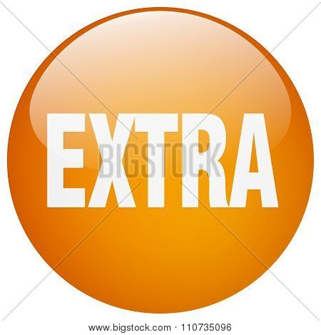 Extra Orange Round Gel Isolated Push Button