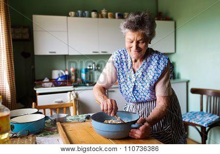 Senior Woman Baking