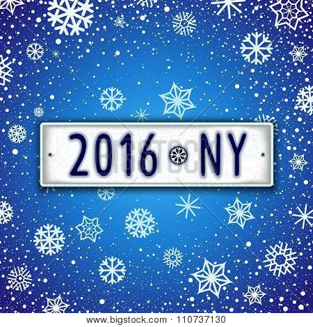 Happy New Year 2016 Design Signboard