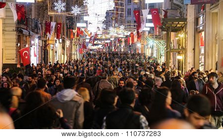 Istiklal Avenue In Istanbul City