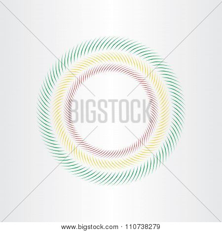 Optical Illusion Circle Vector Element