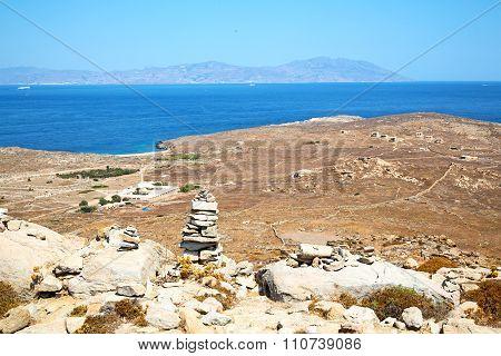 Temple  In  Greece  Old Ruin Site