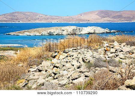 Temple  In Delos Greece  Historycal   Site
