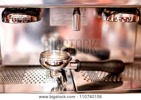 Espresso Machine With Tools And Accessories As Tamper, Piston An