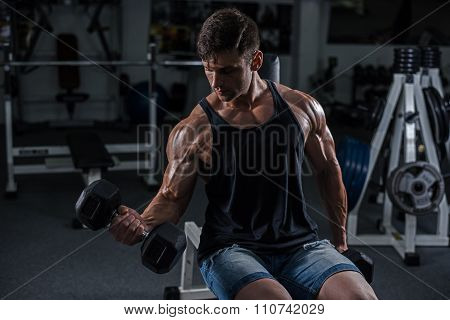 Bodybuilder In The Gym