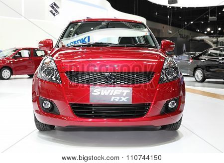 Bangkok - December 1: Suzuki Swift Rx Car On Display At The Motor Expo 2015 On December 1, 2015 In B