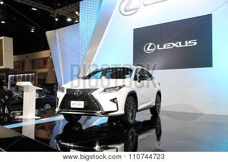 Bangkok - December 1: Lexus Rx 200T Car On Display At The Motor Expo 2015 On December 1, 2015 In Ban