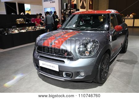 Bangkok - December 1:mini Countryman Car On Display At The Motor Expo 2015 On December 1, 2015 In Ba