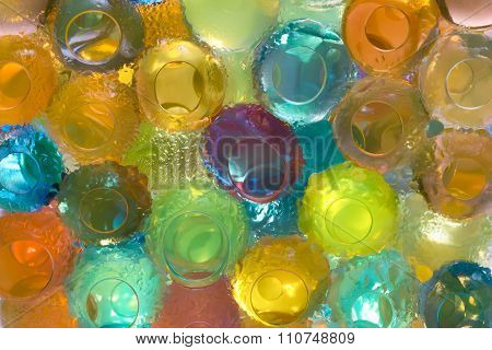 Colored Gel Balls  Closeup