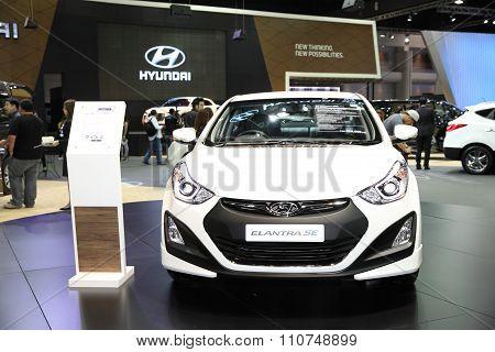 Bangkok - December 1: Hyundai Elantra Se Car On Display At The Motor Expo 2015 On December 1, 2015 I