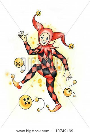 Harlequin in the circus