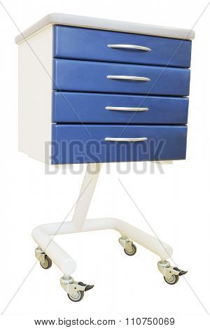 Blue medical table