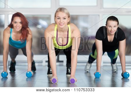 Plank Exercise With Dumbbells