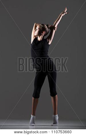 Gymnast Girl Exercising