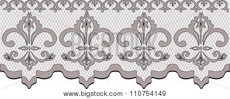 Pale pink lace pattern with ornaments