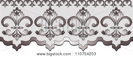 Lace pattern with floral ornaments