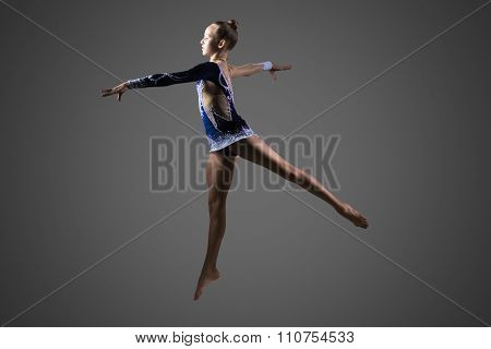Gymnast Girl Jumping