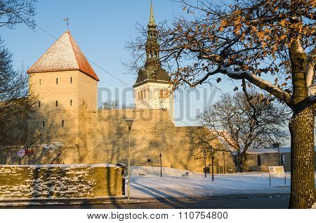 Tallinn, Streets And Old Town Architecture Estonian Capital