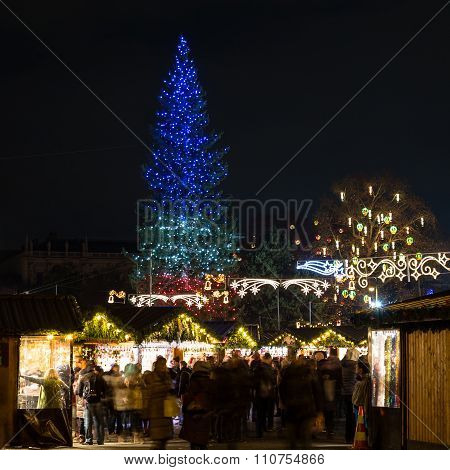 Christkindlmarkt At Rathaus In Vienna