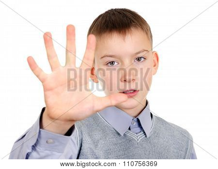 Kid With Palm Gesture