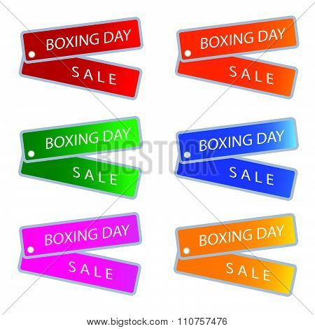 Boxing Day Sale On Muti Colors Labels