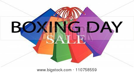 Colorful Paper Shopping Bags For Boxing Day Promotion