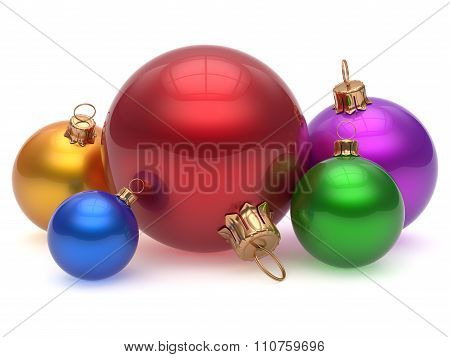 Christmas Ball Adornment Decoration Multicolored Baubles