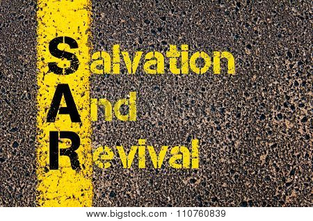 Accounting Business Acronym Sar Salvation And Revival