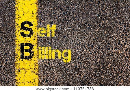 Accounting Business Acronym Sb Self Billing