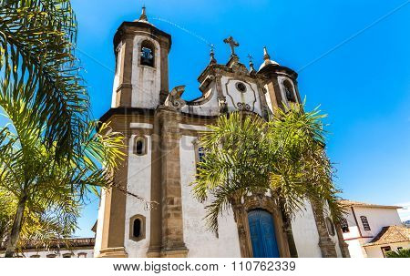 Church in Ouro Preto, Minas Gerais, Brazil